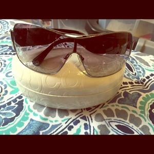 Coach black vail sunglasses as is